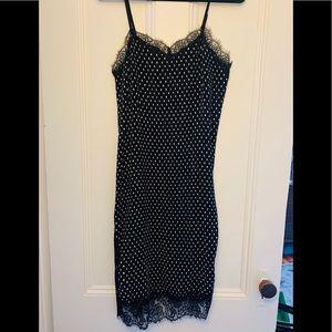 Free People Polka Dot Slip Dress, size 4 - 6